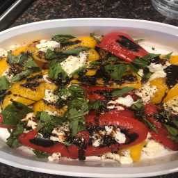 Roasted Bell Pepper Salad with Mozzarella and Basil