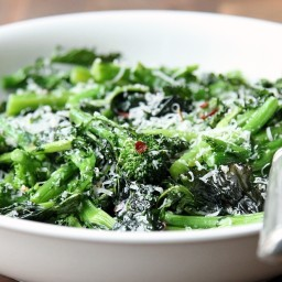 Roasted Broccoli Rabe With Lemon, Chili Flakes, and Parmesan
