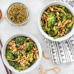 Roasted Broccoli Salad with Almonds and Simple Sesame Dressing
