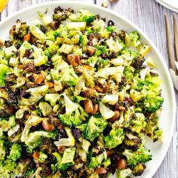 Roasted Broccoli Salad with Lemons and Almonds
