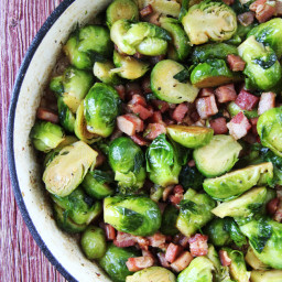 Roasted Brussel Sprouts with Pancetta