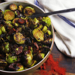 Roasted Brussels Sprouts With Chorizo and Sherry Vinegar Recipe