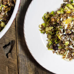 Roasted Brussels Sprouts with Acorn Squash and Quinoa