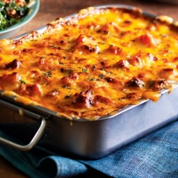 Roasted Butternut Squash and Cheddar Gratin