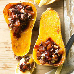 Roasted Butternut Squash Filled with Port-Soaked Fruit