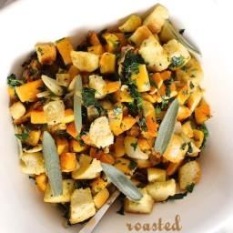 Roasted Butternut Squash Panzanella Salad