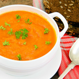 Roasted Carrot Soup [Vegan]