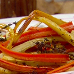 Roasted Carrots and Parsnips with Thyme