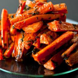 Roasted Carrots with Turmeric Honey - Milk