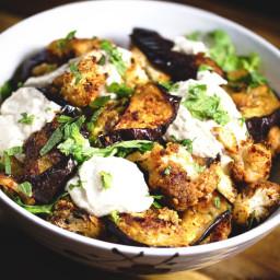 Roasted Cauliflower and Eggplant salad