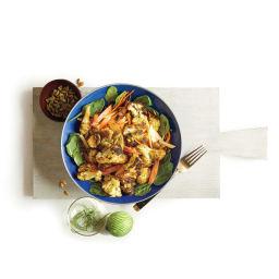 Roasted cauliflower & apple salad with pepitas & curry-lime vinaigrette