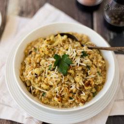 Roasted Cauliflower Barley Risotto