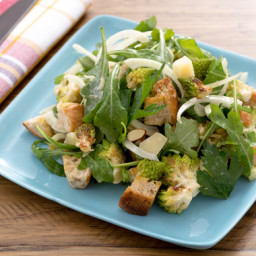 Roasted Cauliflower Panzanella with Fennel, Piave Cheese and Sliced Almonds