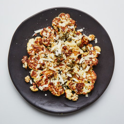 Roasted Cauliflower with Capers and Parmesan