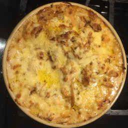 Roasted Cauliflower with Caramelized Onion Gratin