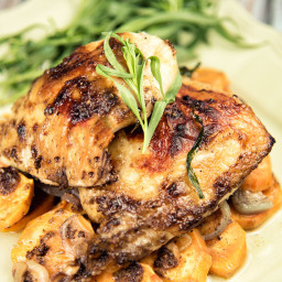 Roasted Chicken Thighs with Sweet Potatoes Recipe