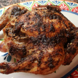 Roasted Chicken with Baharat, Garlic, and Mint