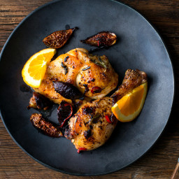 Roasted Chicken With Figs and Rosemary