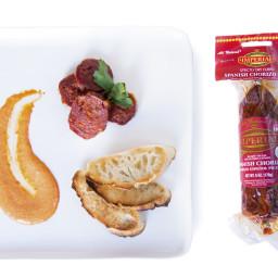 Roasted Chorizo with Smoked Piquillo Pepper Aioli
