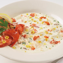 Roasted Corn and Maine Lobster Chowder