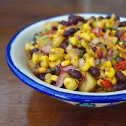 Roasted Corn, Pineapple and Black Bean Salad