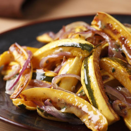 Roasted Delicata Squash and Onions