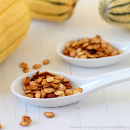 Roasted Delicata Squash Seeds