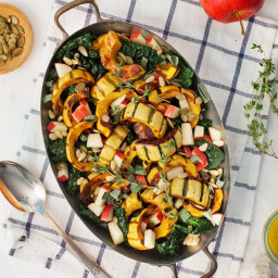 Roasted Delicata Squash with Apples