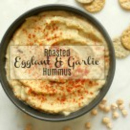 Roasted Eggplant and Garlic Hummus
