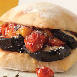 Roasted Eggplant and Tomato Sandwiches