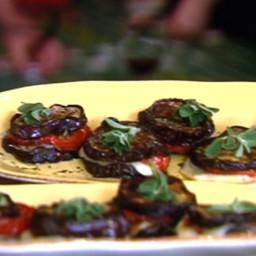 Roasted Eggplant and Tomato Stacks