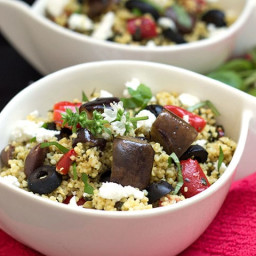 Roasted Eggplant Couscous Salad