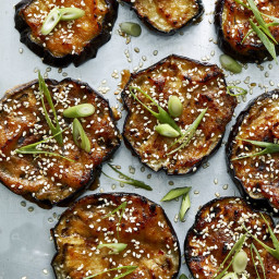 Roasted Eggplant With Miso and Sesame Seeds