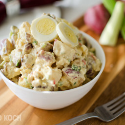 Roasted Garlic and Red Skin Potato Salad