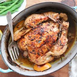 Roasted Garlic and Truffle Chicken with Truffle Pan Gravy