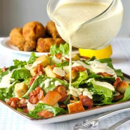 Roasted Garlic Caesar Salad Dressing - the easy way using a plain mayo base