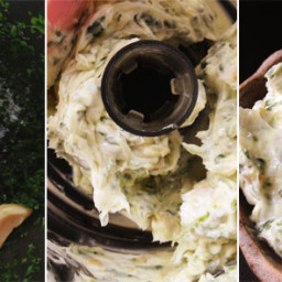 Roasted Garlic Herbed Truffle Butter