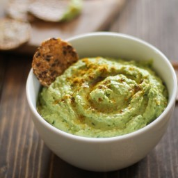 Roasted Garlic Kale Hummus
