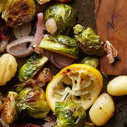 Roasted Gnocchi & Brussels Sprouts with Meyer Lemon Vinaigrette