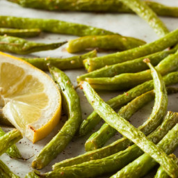 Roasted Green Beans with Fresh Garlic