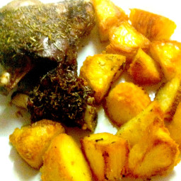 Roasted Lamb Shank with Potatoes