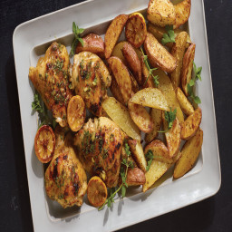 Roasted Lemon Chicken Thighs and Potatoes