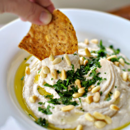 Roasted Lemon White Bean Hummus
