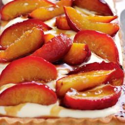 Roasted nectarine tart