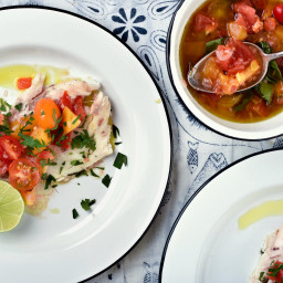 Roasted or Grilled Whole Fish With Tomato Vinaigrette