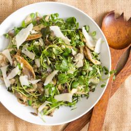 Roasted Oyster Mushroom and Watercress Salad Recipe