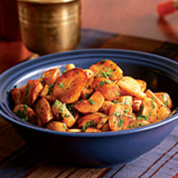 Roasted Parsnips with Cinnamon and Coriander
