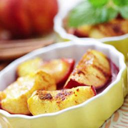 Roasted Peaches with Cinnamon, Vanilla, and Honey
