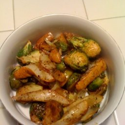 Roasted Pears and Brussel Sprouts