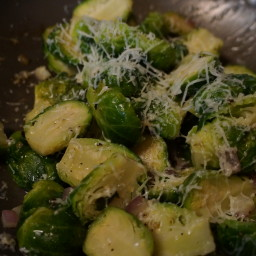 Roasted Pecorino Brussles Sprouts